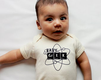 Science Baby Outfit//One Piece//Baby Clothes//Baby Geek//Chemistry//Oatmeal