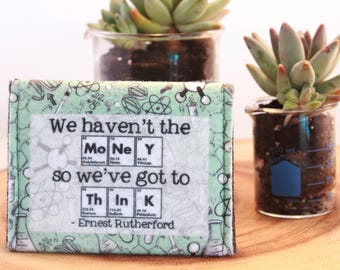 Chemistry Felt Wallet//Science Bag//Coin Purse//Science Teacher//Recycled Materials