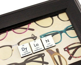 Chemistry Mixed Media Wall Art Personalized Periodic Table Name Signs