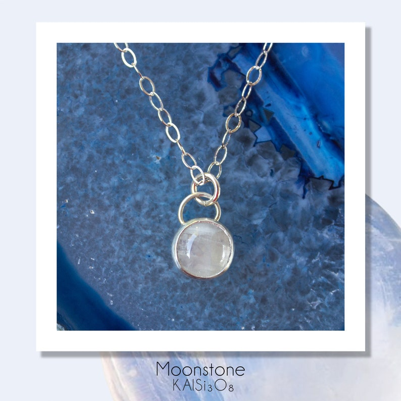 7c534f4f28c5d1 Rainbow Moonstone Necklace//Moonstone charm// Gift for   Etsy