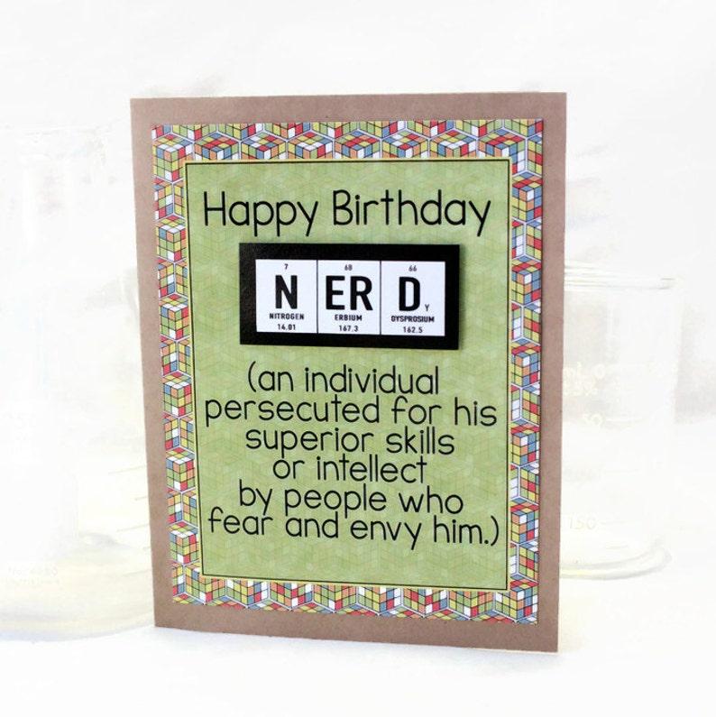 Science Nerd Birthday Card Greeting Paper Goods