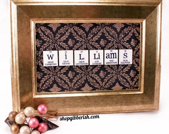 Science Chemistry Name-Sign - Science Personalized Gift - Science Art - Science Wall Decor