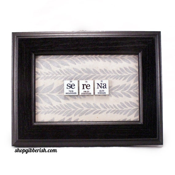 Science gift chemistry name sign periodic table of elements etsy image 0 urtaz Image collections