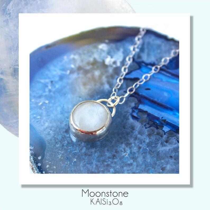 5e83383aaf2784 Moonstone Pendant Necklace//Rainbow Moonstone//Science Gift   Etsy