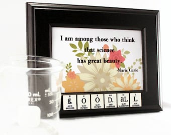 Chemistry Womens Wall Decor Art Name-Sign Science Periodic Table of Elements