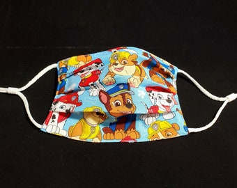 Paw Patrol Child Size Pleated Face Mask