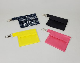 Mini Mask Bag on swivel clasp for storing your face mask