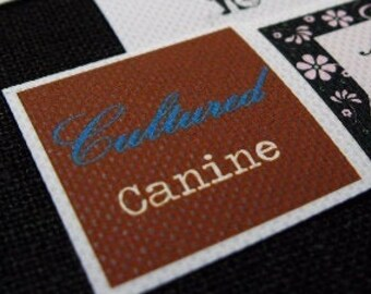 Sew On or Iron on Polyester Fabric Labels 1 sheet Full Color Printed resistant to Fray No Fade Machine Washable