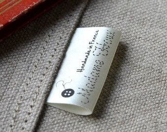 Cream Satin Fabric Labels BOGO SALE 100+100 free Custom  Clothing Labels with your Logo PRECUT