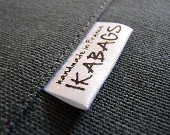 Fabric Labels  Custom Satin  Care Label  Clothing Labels  Black ink PRECUT