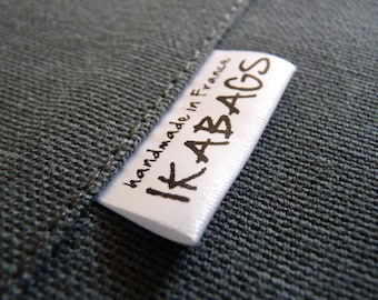 Fabric Labels 200, Add your logo on Custom  Satin  Care Label  Clothing Labels Black ink PRECUT
