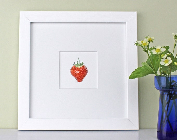 Featured listing image: Art Print with Strawberry Illustration