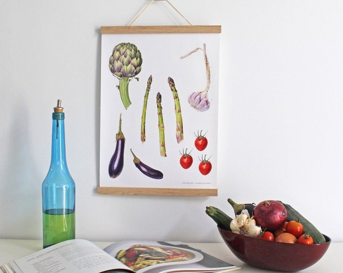 Featured listing image: Illustrated Vegetable Wall hanging