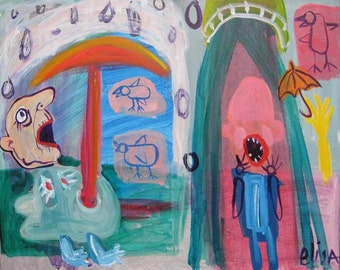 Atomic Shower Outsider Art Brut RAW Visionary Naive Primitive Elisa