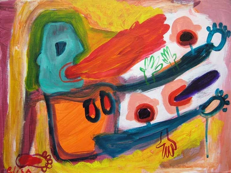 Cannibal's Dinner Outsider Art Brut RAW Visionary Naive image 0