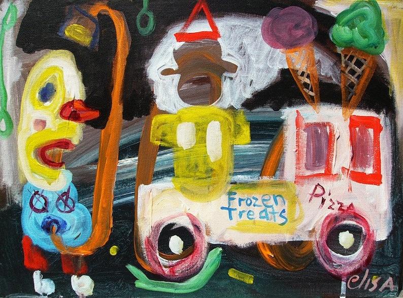 Ice Cream Man Visionary Art Brut RAW Outsider Elisa image 0