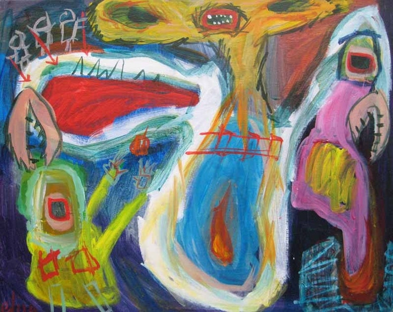 Monster 57 Outsider Art Brut RAW Visionary Naive Primitive image 0