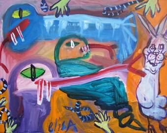Detoxing Bunny Snakes Outsider Art Brut RAW Visionary Naive Elisa