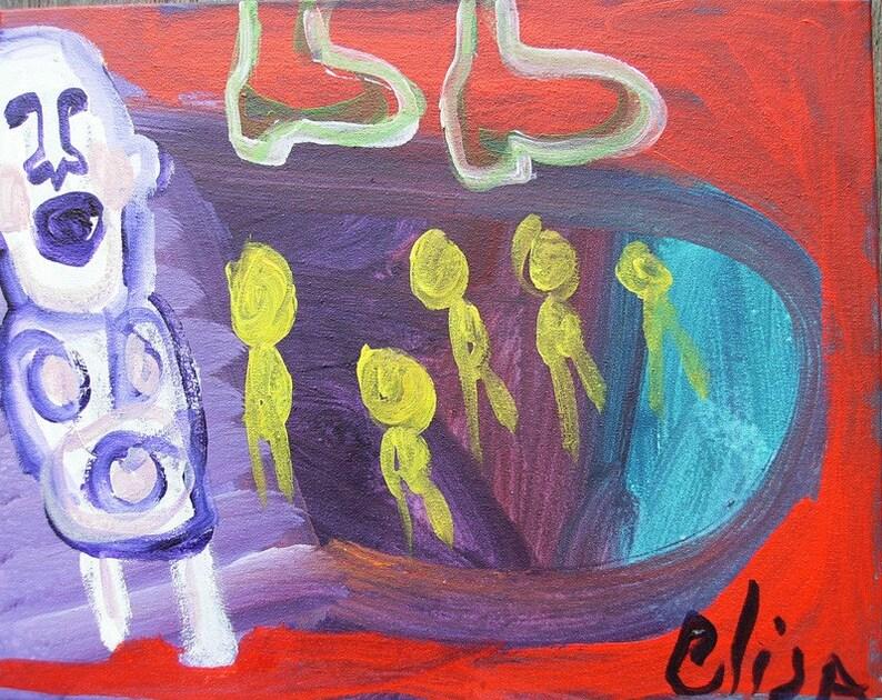 Tunnel Outsider Art Brut RAW Visionary Naive Elisa image 0
