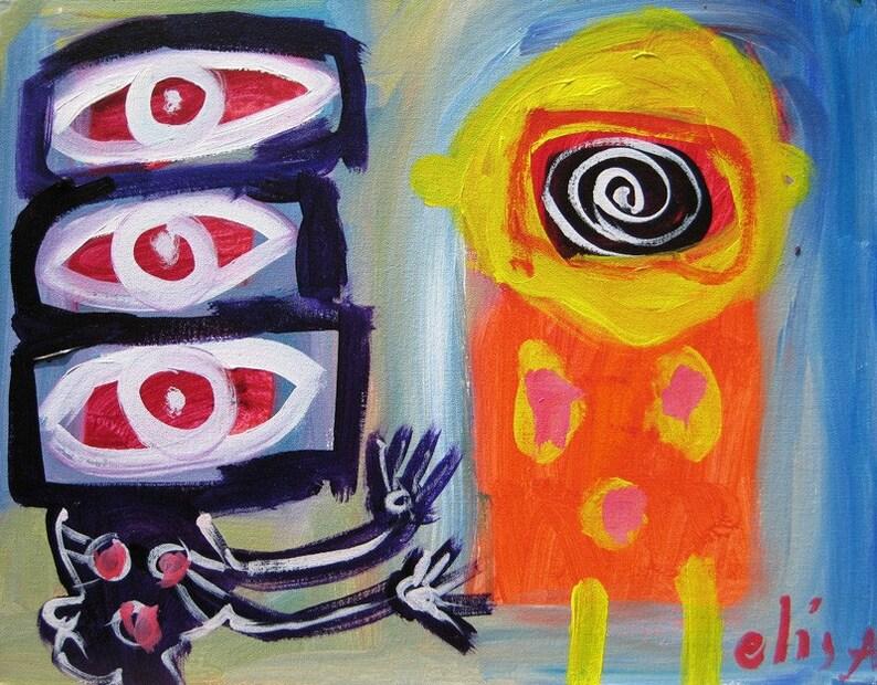 Hypnotizer Outsider Art Brut Naive Primitive Elisa image 0