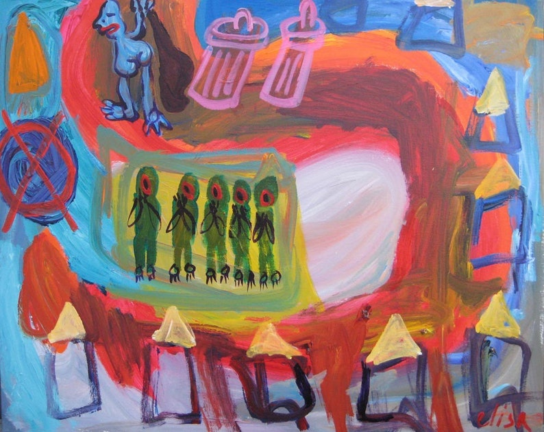 Dead End Outsider Art Brut RAW Visionary Naive Primitive Elisa image 0