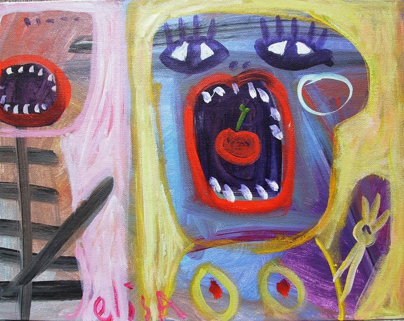 Give Me Your Cherry WILD Visionary Naive Art Brut RAW Outsider image 0