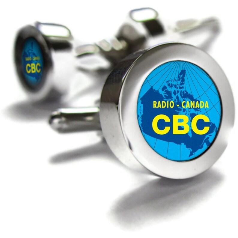 763933757815 CBC Retro 1950 s Cufflinks retro Canadian gift Canada