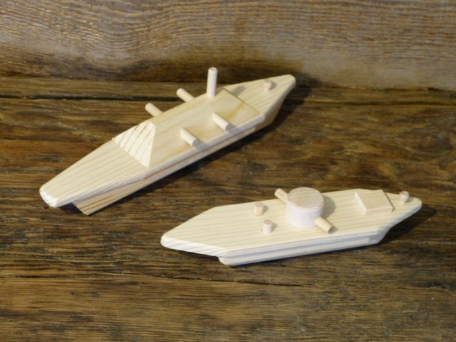 Wooden Toys USS Monitor and CSS Virginia Merrimack Wood Toy | Etsy