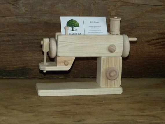 Machine Coudre En Bois Carte De Visite Porte Artisanat