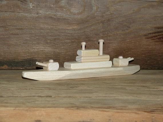 Wood Toy Battleship WW2 Wooden Toys ship Navy Handmade Eco | Etsy