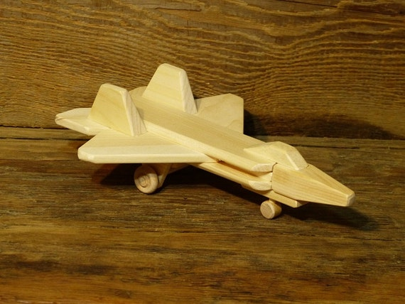 Wooden Toy Log Skidder : Handmade wood toy f jet plane airplane wooden toys eco