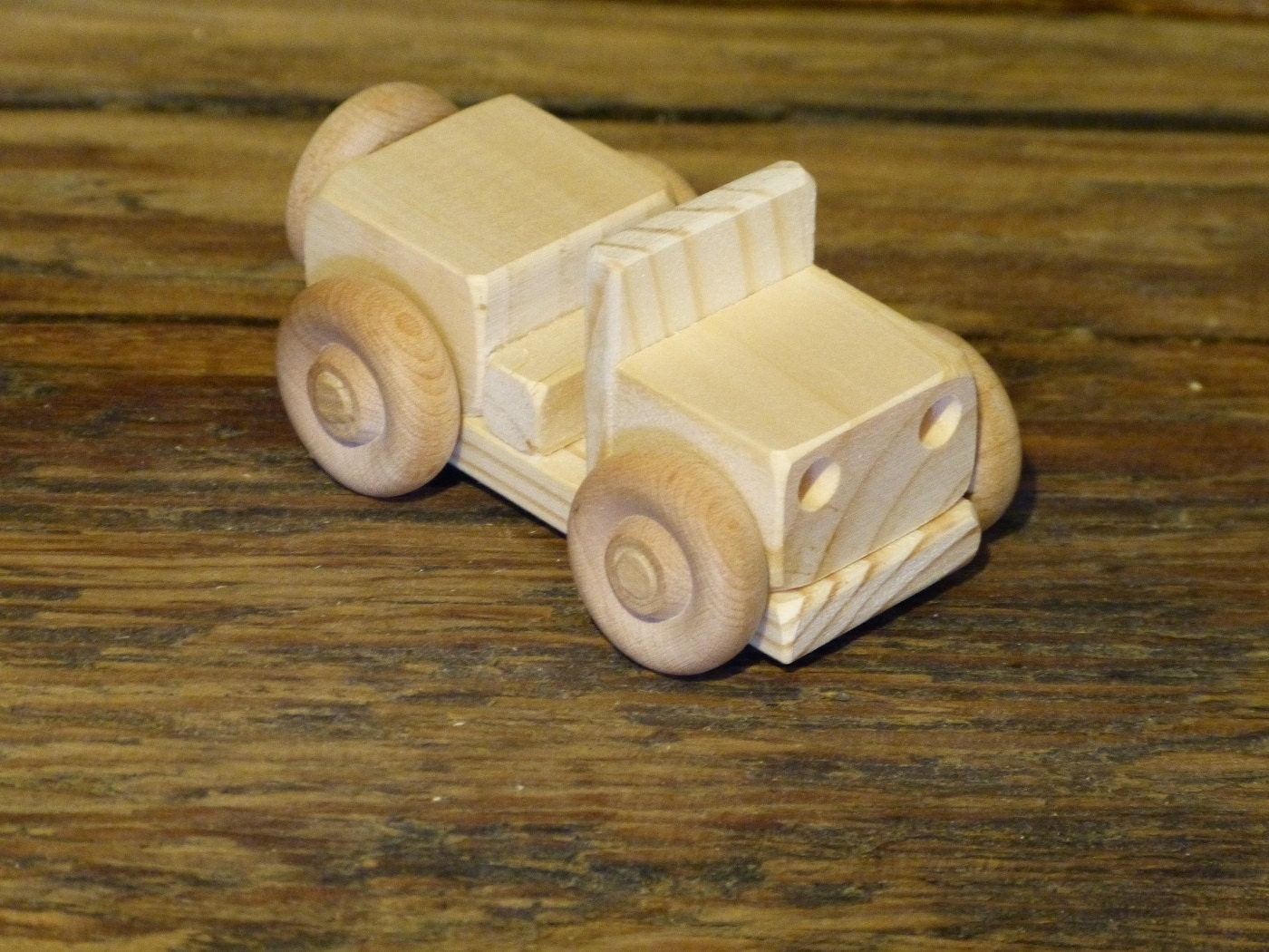 mini wood toy truck jeep wooden toys ww2 handmade kids boys childs birthday  gift present