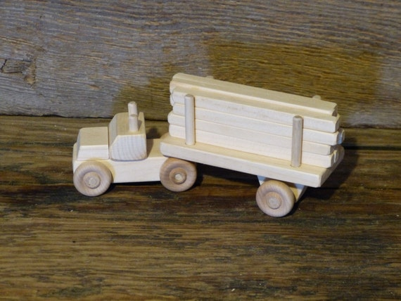 Niños Juguetes De Carro Hechos Mano Tractor Regalo Remolque Cumpleaños Mini A Madera Presente OXuiPZkT