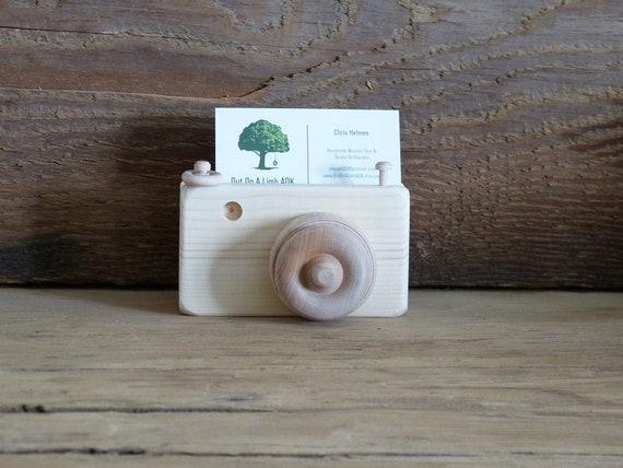Handmade wooden camera business card holder photographer gift etsy image 0 colourmoves