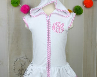 75c130ebef Girls Monogrammed Terry Cloth Cover Up