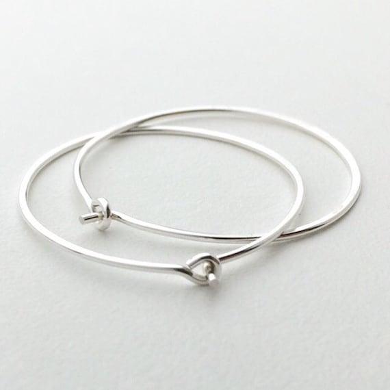 Solid Sterling Silver Hoop Earrings Silver Hoops Earrings 925 Sterling Silver