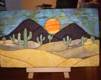 Night Mountain Moon (Punch Quilt)