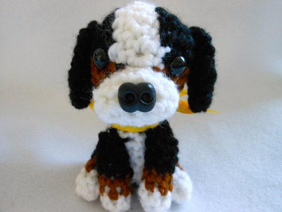 Bernese Mountain Crochet Dog Canine Amigurumi Stuffed Dog Etsy