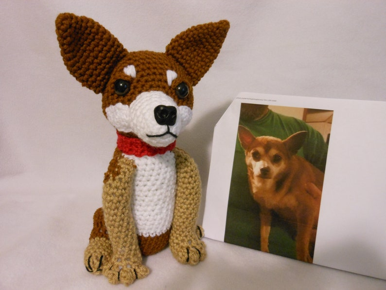 Custom Crochet Dog, Made to Look Like Owner's, Stuffed Dog, Dog Memorial,  Pet Remembrance, Chihuahua, Pet Memorial, Custom Dog, Look Alike