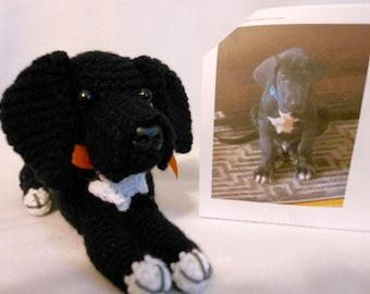 Black Great Dane, Custom Crochet Dog, Stuffed Dog, Black Dane, Custom Great Dane, Made to Look Like Owner's, Look Alike, Stuffed Great Dane