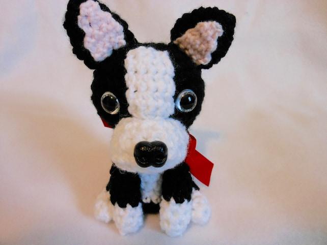 Boston Terrier häkeln Hund Amigurumi Hundeliebhaber Hund | Etsy