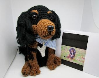 Custom Crochet Cavalier King Charles Spaniel, Made to Look Like Owner's, Pet Memorial, Custom Dog, Crochet Dog, Custom Cav, Pet Remembrance