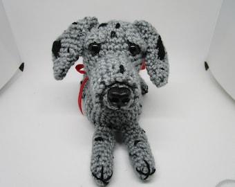 Crochet Merle Great Dane, Great Dane, Stuffed Dog, Crochet Great Dane, Handmade Great Dane, Crochet Dane, Canine, Merle Dane, Gray Black Dog