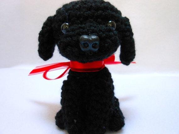 Black Labrador Retriever Crochet Dog Amigurumi Etsy