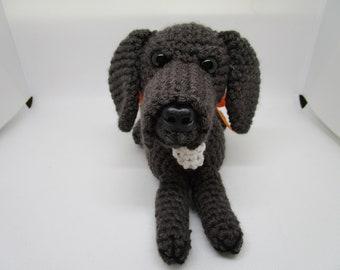 Great Dane in Dark Gray, Custom Dog, Stuffed Dane, Crochet Great Dane, Custom Great Dane, Pet Memorial, Dog Memorial, Great Dane Dog