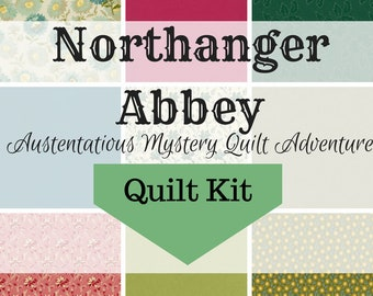 Northanger Abbey Mystery - Quilt & Backing Kit (EU Customers Only)