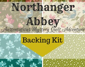 Northanger Abbey Mystery Class - Backing Kit (EU Customer Only)