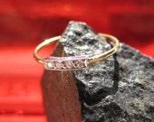 Sappho, a Diamond , Platinum and 22K Gold Ring