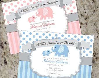 Elephant Baby Shower Invitations | Elephant Baby Shower Invites | Boy Baby Shower Invites | Girl Baby Shower Invites | Baby Elephant