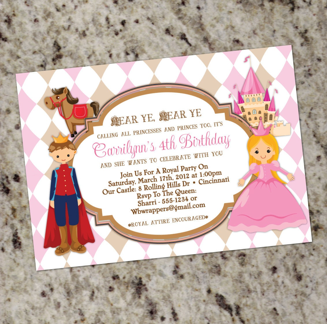 Princess and Prince Birthday Party Invitations Calling All | Etsy